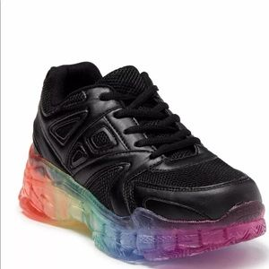 Wanted Brisk Chunky Rainbow Sole Sneakers Womens